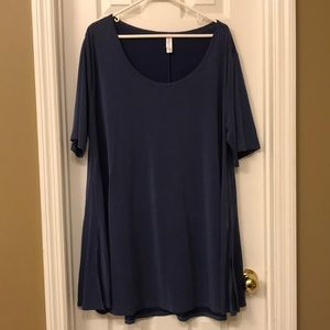Solid Blue LuLaRoe Perfect Tee Size 3X